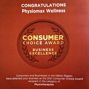 Physiotherapy Burlington - Consumer Choice Award 2021
